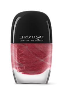 L_O_V CHROMAlight metal shine nail lacquer 100 Glistening Red